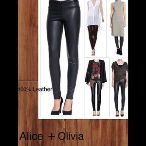 Alice + Olivia 100% Leather Pants - NWT